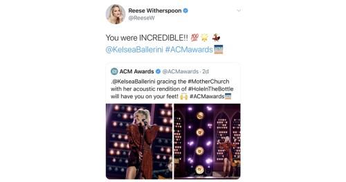 Reese Witherspoon Kelsea Ballerini Tweets