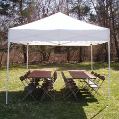 Folding Chair With Canopy Patio Slings Rental Equipment — Nyc Party Masters