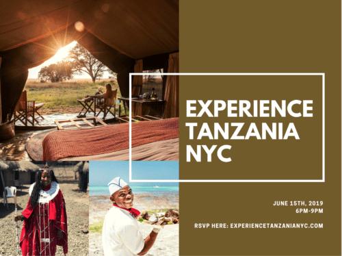 *DISCOUNT* Curious on Tanzania Presents Experience Tanzania NYC- Saturday June 15th