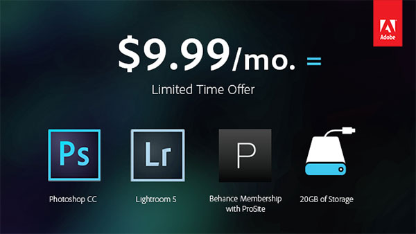 To address photographer's unhappy with the new Creative Suite pricing scheme, Adobe dropped the price on a package including Photoshop CC and Lightroom.