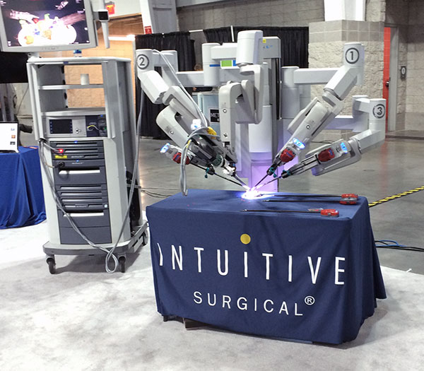 Intuitive Surgical thought they would bring along one of their $2 million surgical robots for all the tire-kickers.