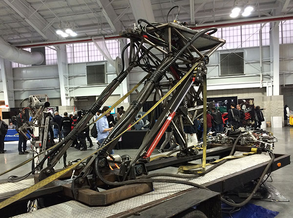 This welded-from-many-spare-parts creature wasn't moving when I was there.