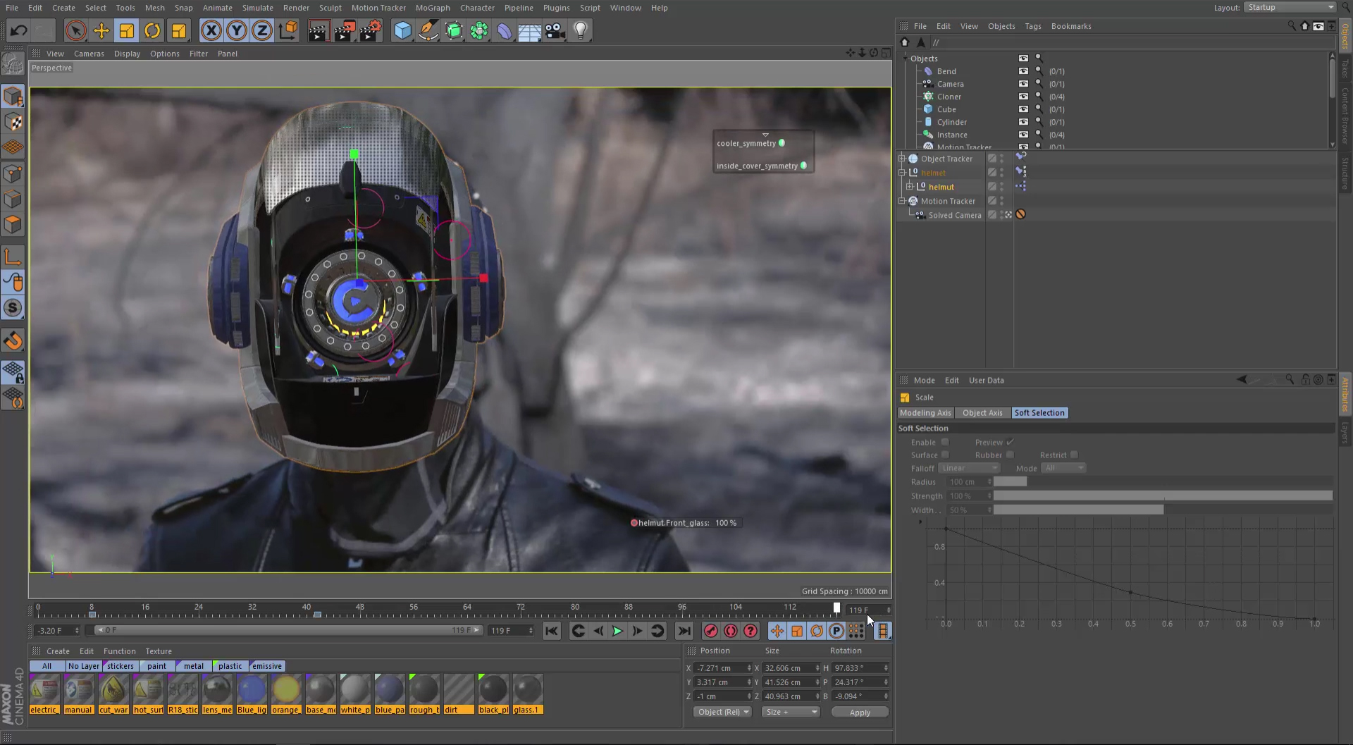 Along with camera tracking, object tracking has now been added to CINEMA 4D.