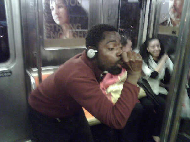nyc subway crazy guy