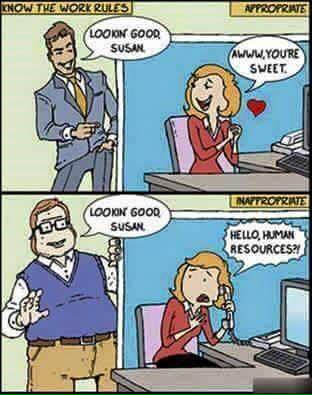 complimenting women