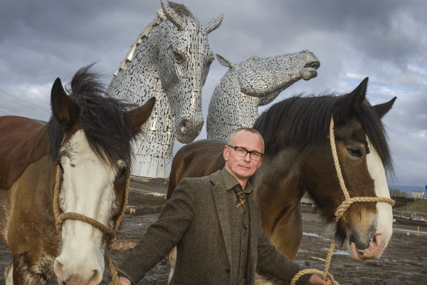 Andy Scott and The Kelpies