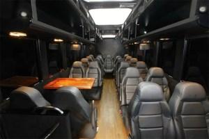 mini coach executive interior mini bus