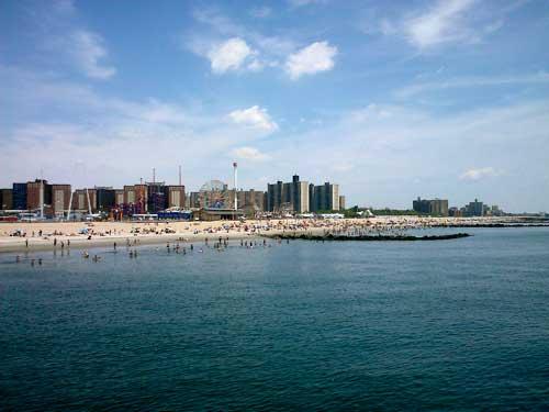 Coney Island NY Pier view