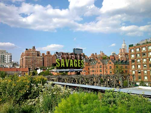 High Line billboards NYC