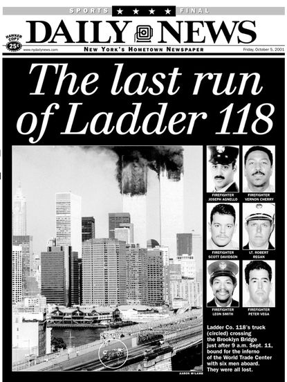 Fdny Ladder 118 : ladder, Photographer, Caught, Iconic, Doomed, Truck, Heading, Toward, Burning, Towers, Daily