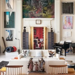 New York Loft Style Living Room Good Paint Colors For Luxury And Artful Interiors Of A Design Agenda Expensive Art Collection In