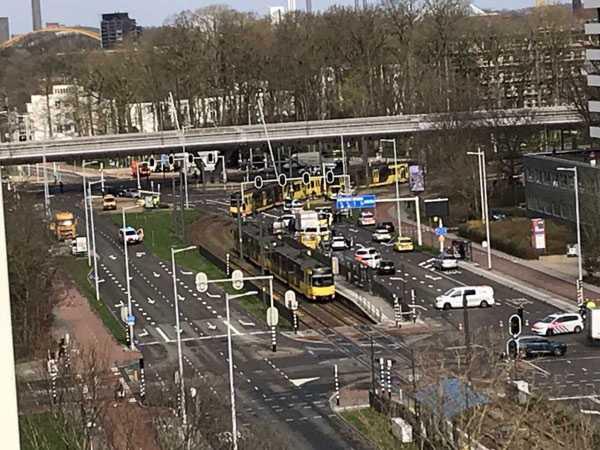 Utrecht at the 24 Oktoberplein tram stop
