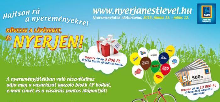 Nestlé nyereményjáték – ALDI: Hajtson rá a nyereményekre!