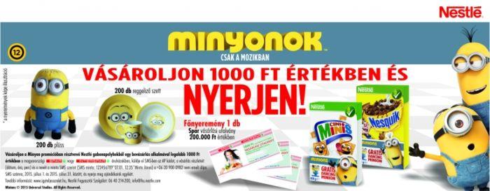 Nestlé Minyon nyereményjáték: nyerj Spar vásárlási utalványt
