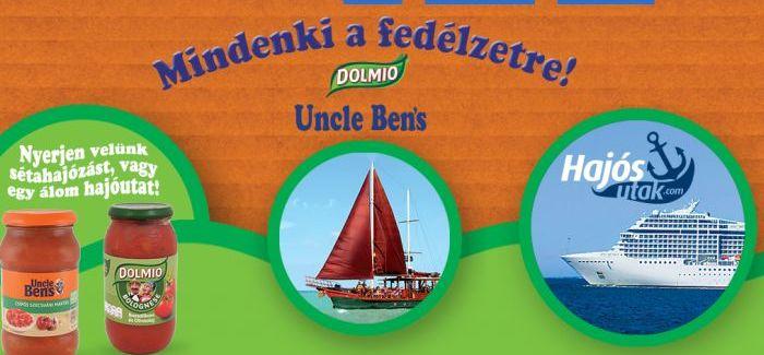 Uncle Bens, Dolmio nyereményjáték: Mindenki a fedélzetre!