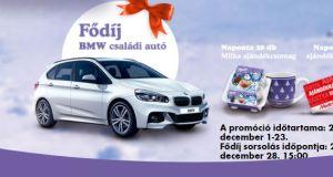 Milka karácsonyi nyereményjáték 2017 - A Milka csokoládék segítségével idén karácsonykor még különlegesebb ajándékokkal lepheted meg szeretteidet! Vásárolj bármilyen Milka terméket legalább 999 Ft értékben, töltsd fel az AP-kódot, és nyerd meg napi ajándékaink egyikét, vagy épp a fődíjat, a BMW családi autót! JÁTSZOM A játék menete