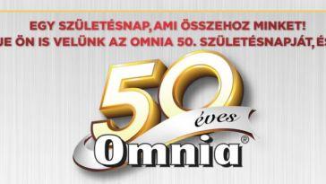 50 éves Omnia nyereményjáték