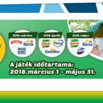 CBA 3 évszak (tavasz) nyereményjáték - játssz és nyerj a kijelölt Unilever termékekkel!