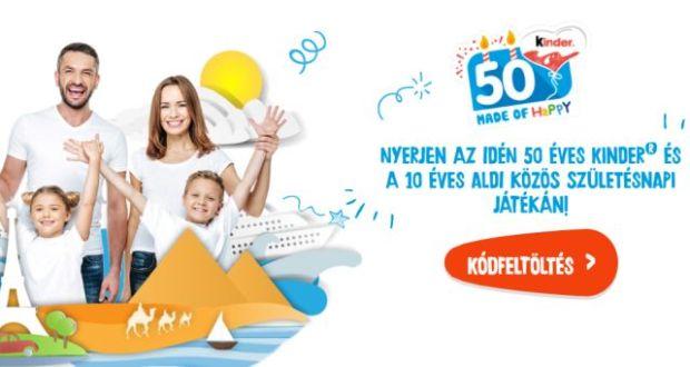 Kinder nyereményjáték - nyerj a 10 éves ALDI-val