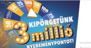 Supershop nyereményjáték - Kipörgetünk 3 millió nyereménypontot! Játssz és nyerj.