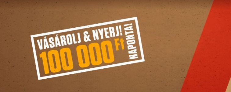 Nyerj naponta 100 ezret - Mars, Twix, Snickers, Bounty nyereményjáték
