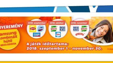 Unilever nyereményjáték - nyerj hűtőszekrényt! A játék november 30-ig tart