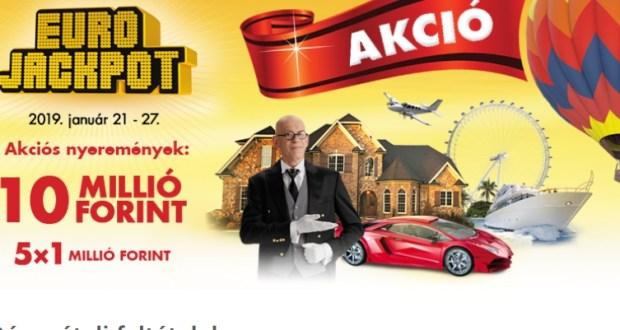 Eurojackpot extra játék - nyerj egymilliót: a játék január 27-ig tart