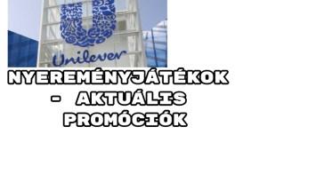 Unilever nyereményjátékok - aktuális Unilever promóciók