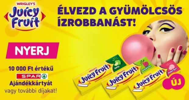 Juicy Fruit nyereményjáték - A játék július 31-ig tart!
