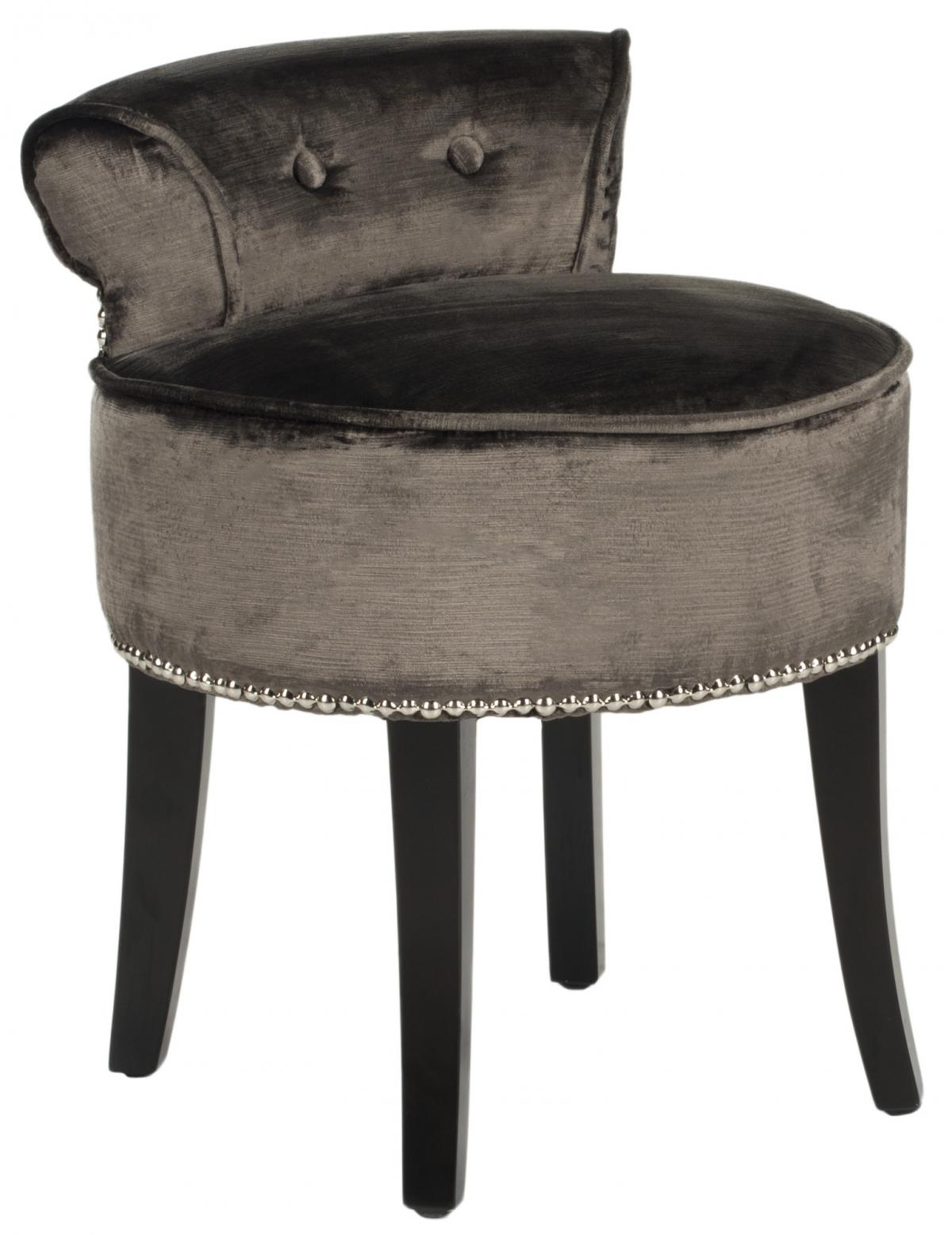 Tufted Vanity Chair Safavieh Mcr4546h Georgia Vanity Chair Pewter