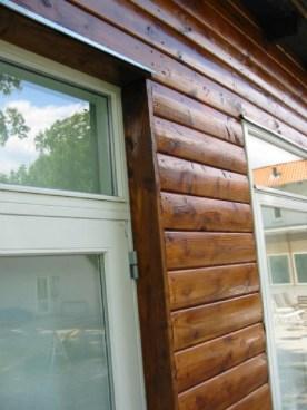 Blokhusbrædder detaljer ved vinduer