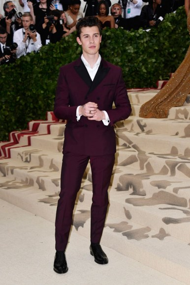 NEW YORK, NY - MAY 07:  Shawn Mendes attends the Heavenly Bodies: Fashion & The Catholic Imagination Costume Institute Gala at The Metropolitan Museum of Art on May 7, 2018 in New York City.  (Photo by Frazer Harrison/FilmMagic)
