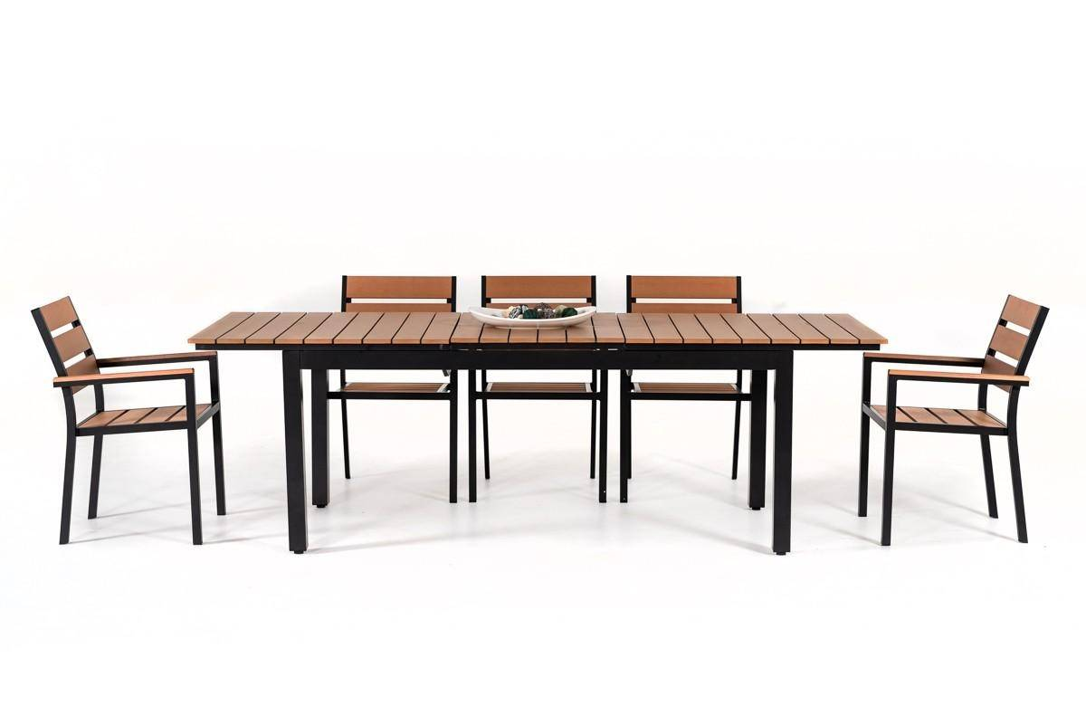 outdoor extendable dining table set 8