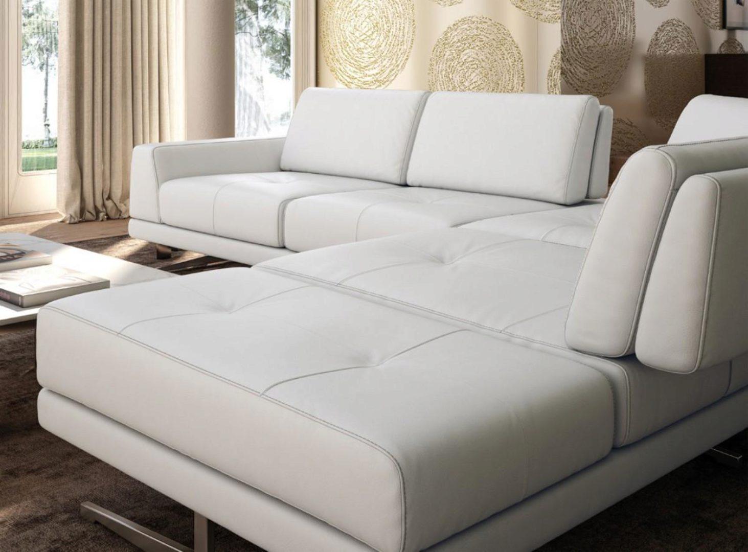 accenti italia bellagio modern white leather sectional sofa made in italy