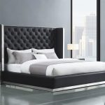 Button Tufted Tall Hb Platform Aesara Queen Bedroom Set 5pcs Contemporary Modern Aesara Q Bed Set 5