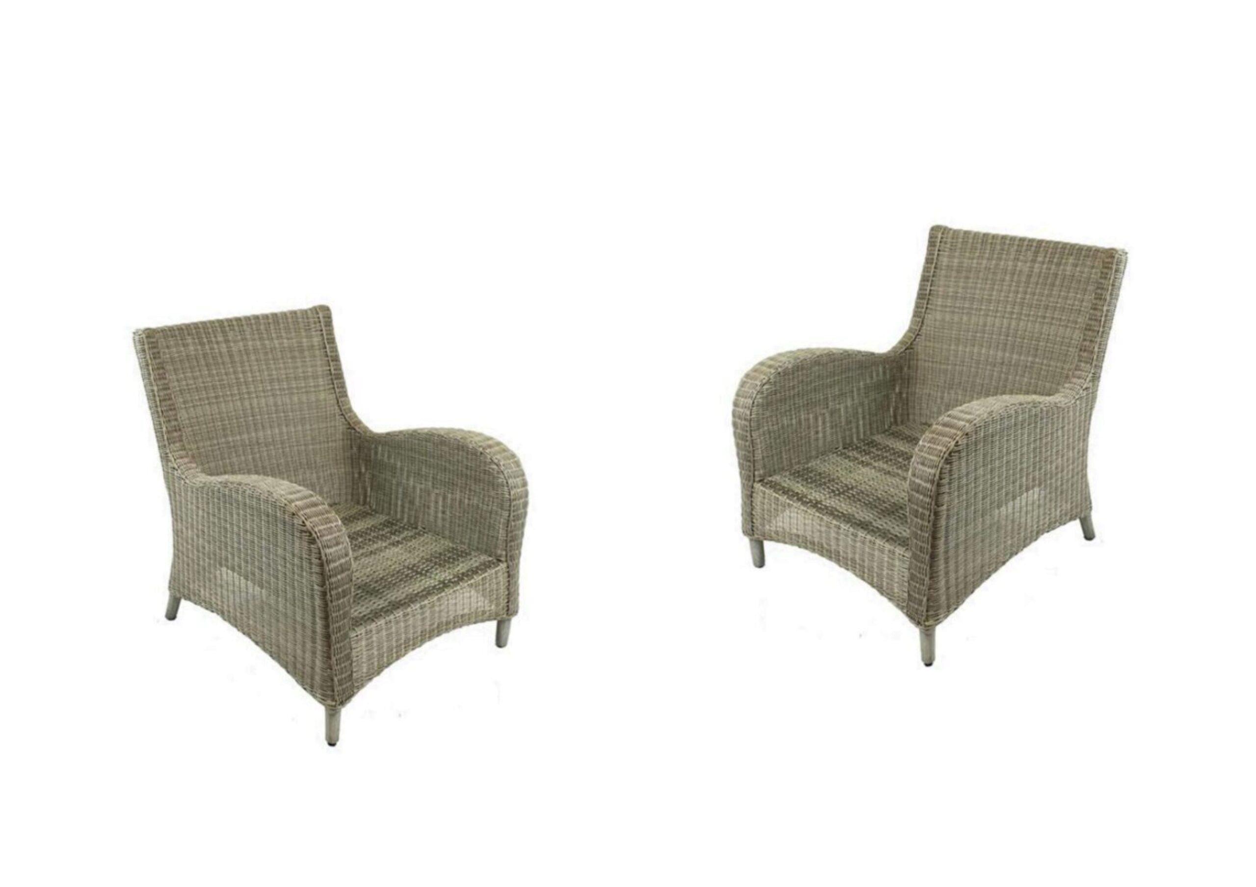 athena wicker fully welded club chair high back w sunbrella cushion set of 2 by calipatio special order