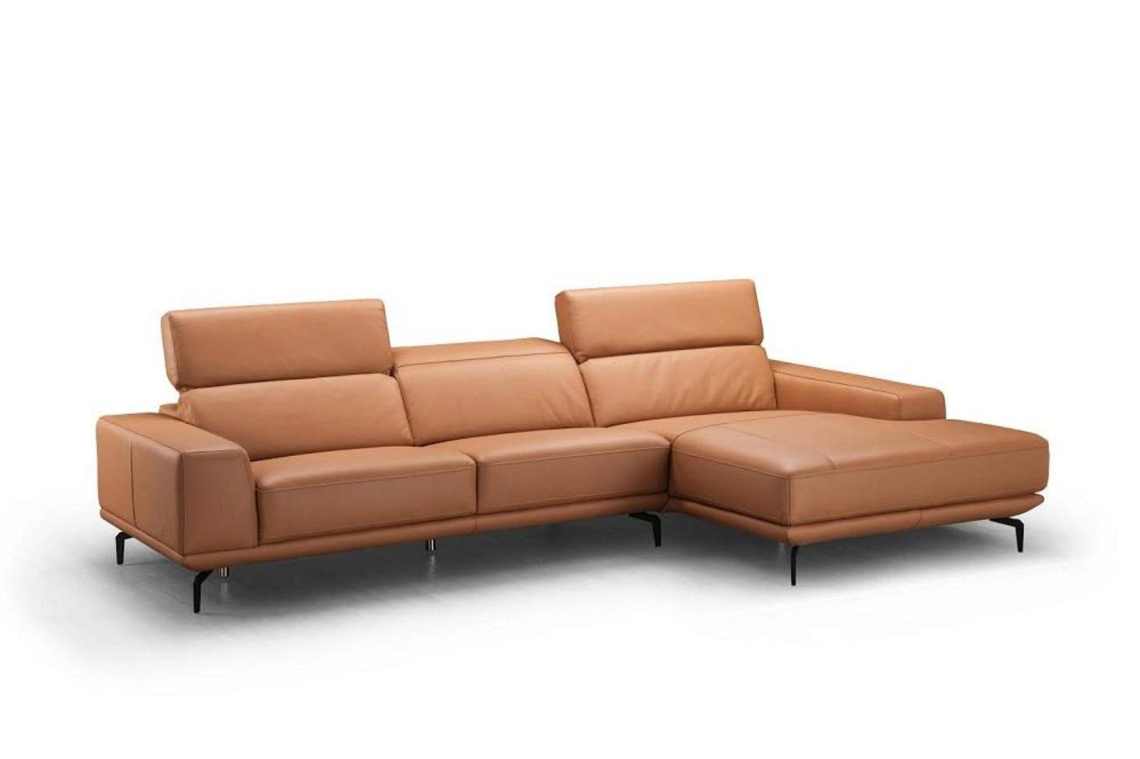 light brown premium italian leather sectional sofa lhc modern j m lima