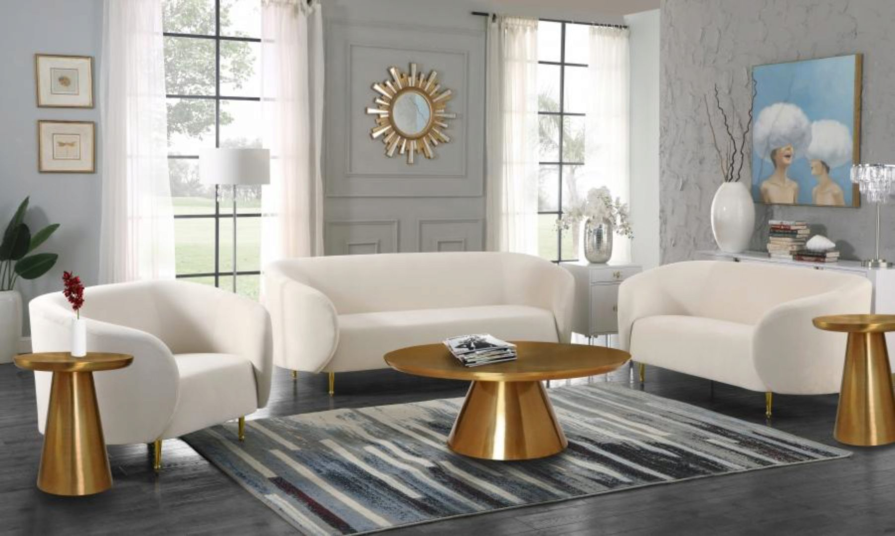 contemporary coffee table sets living