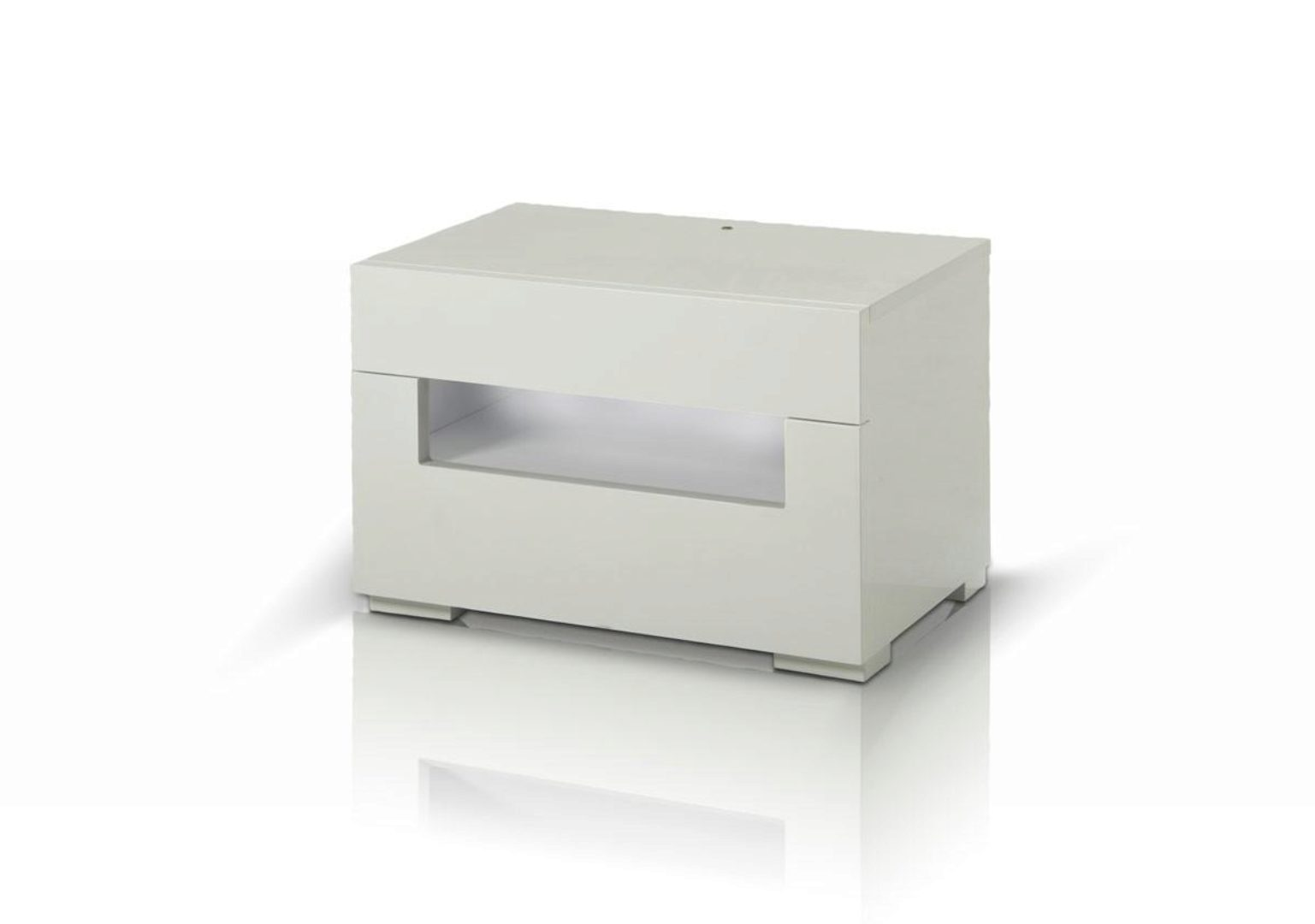nightstand w led glossy white lacquer modrest ceres modern