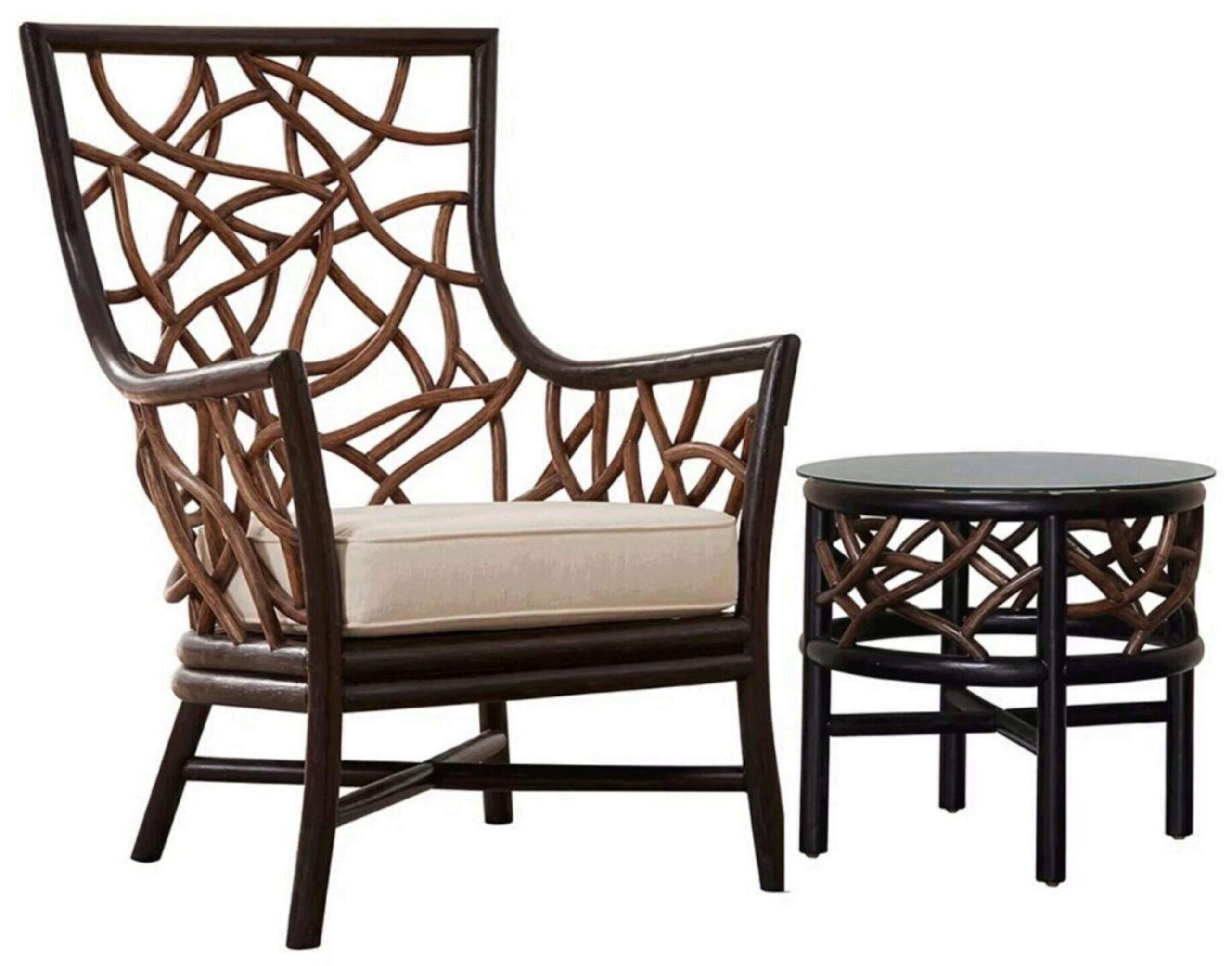 trinidad occasional chair w cushion pjs 1401 blk oc panama jack