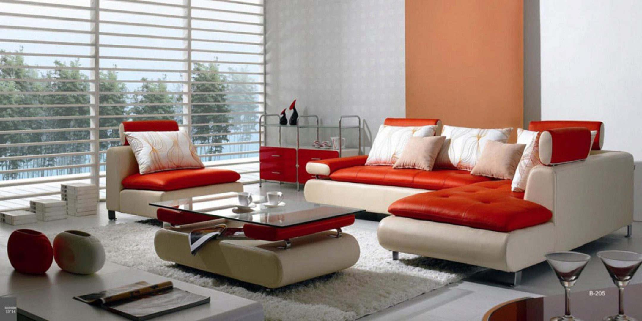 red sofas and sectionals living room