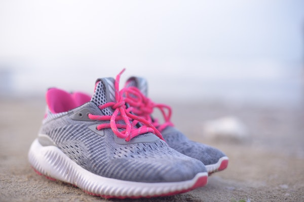 stock image of women's pair of sneakers