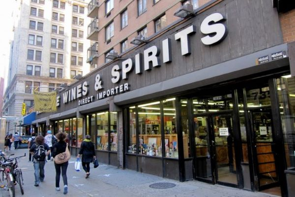 warehouse wines and spirits store front nyc