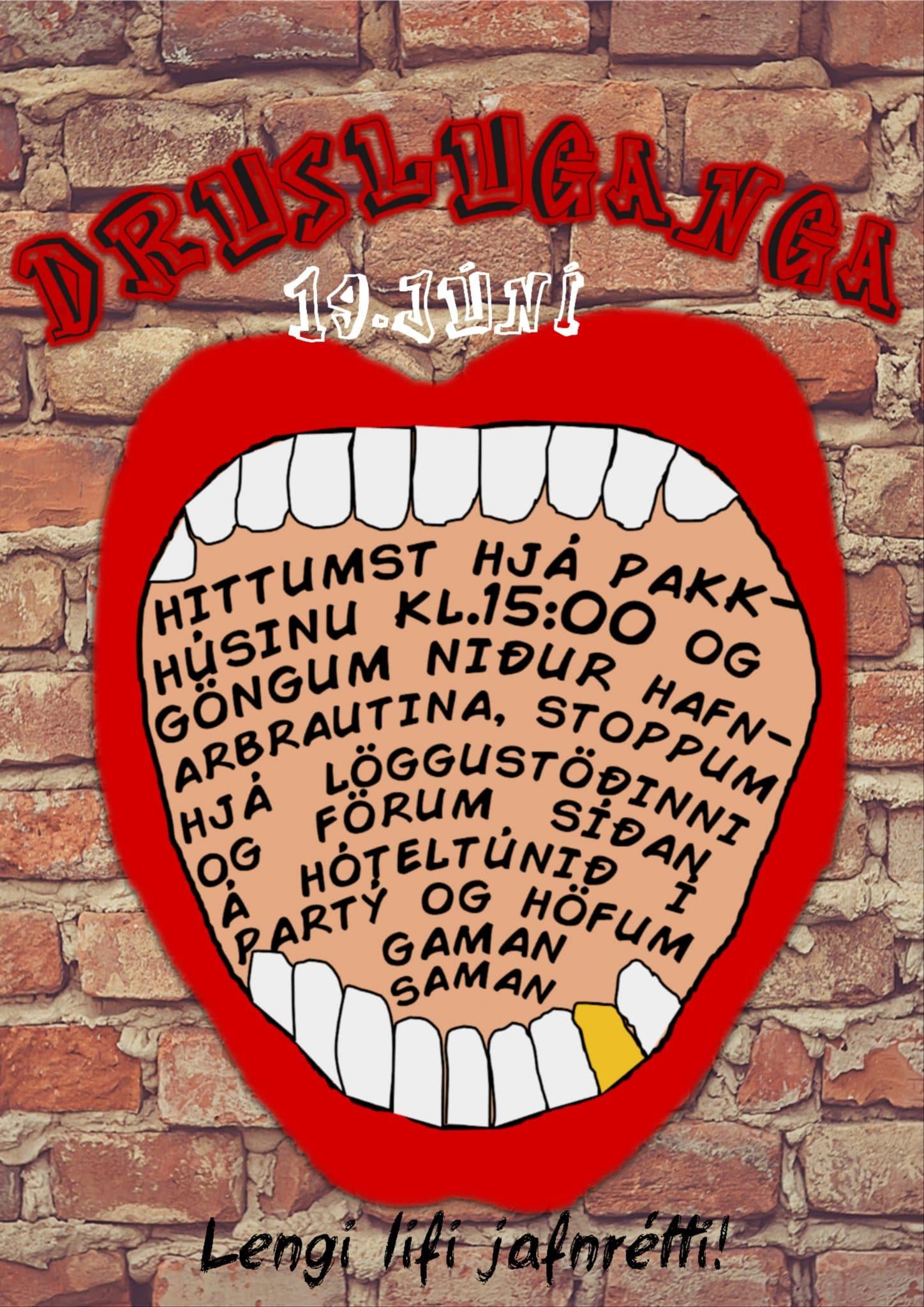 Drusluganga 19. júní á Höfn