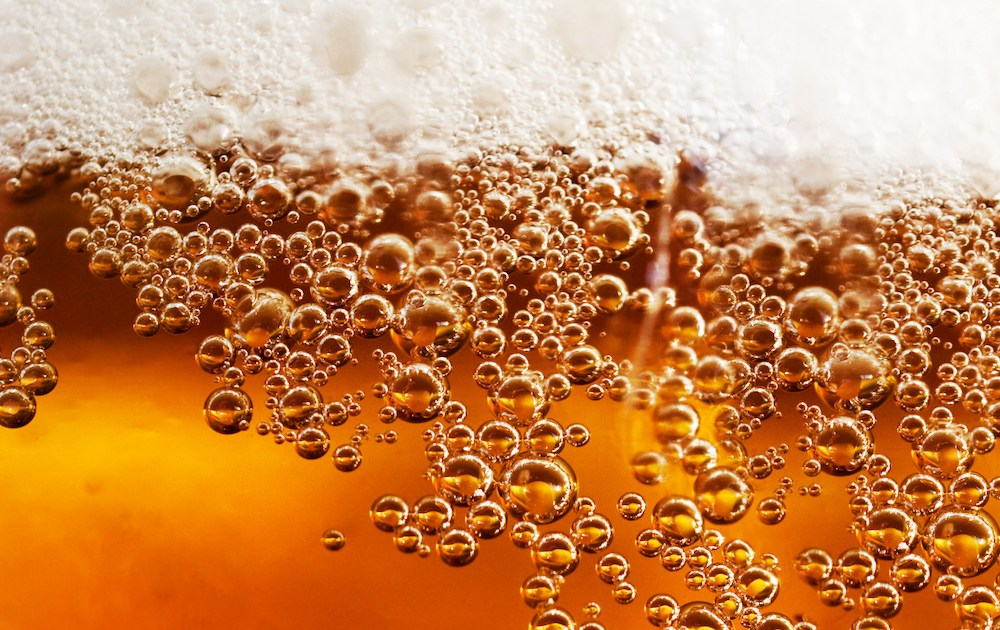 Beer Bubbles closeup