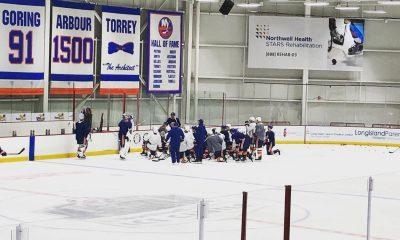New York Islanders practice at Northwell Health Ice Center on Long Island