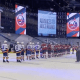 Islanders shake hands with Florida Panthers