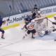 New York Islanders celebrate game winning goal in Game 4