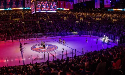 New York Islanders first game back at Nassau Coliseum
