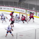 Ilya Sorokin makes a save on the New Jersey Devils